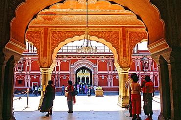 Diwan-I-Khas on City Palace, Jaipur, Rajasthan state, India