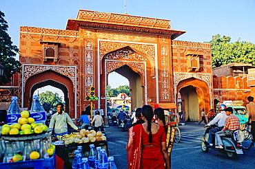Ajmeri Gate, Jaipur, Rajasthan state, India