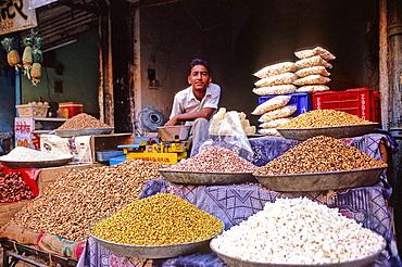 Market of spices, Bikaner, Rajasthan state, India