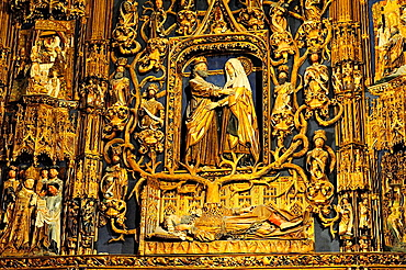 Chapel of St. Anne, altarpiece by Gil de Siloe, XV century, Cathedral, Burgos, Spain