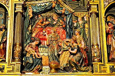 Chapel of Nativity, altarpiece, XVI century, Cathedral, Burgos, Spain