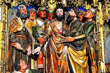 Main altarpiece, detail, Abbey of Cartuja de Miraflores, Burgos, Spain