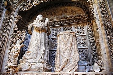 Sepulchre of Alfonso de Castilla, by Gil de Siloe, Abbey of Cartuja de Miraflores, Burgos, Spain