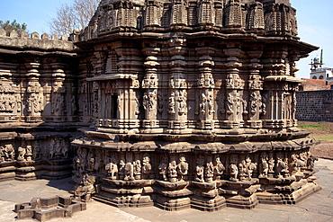 Kopeshwar temple. General-View from South-West. Khidrapur, Kolhapur, Maharashtra, India.