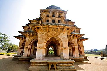 Lotus Mahal, General View of Facade. Hampi, Karnataka India.