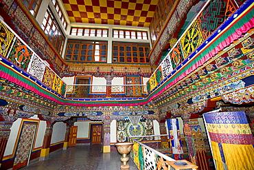 Bird's eyeview of monastery Tawang, Arunachal Pradesh, India.