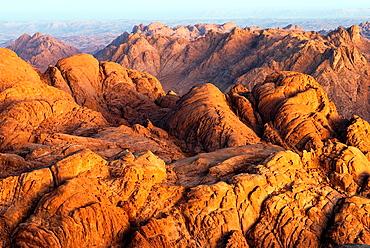 Sinai Mountains at sunrise - Sinai Peninsula, Egypt.