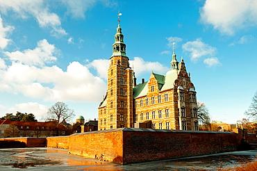 Rosenorg Castle is the royal residence in Copenhagen Denmark.