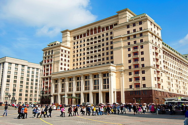 The restored building of hotel Moscow, taken on April 2012.