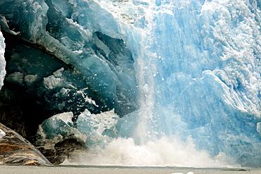 Dawes Glacier at the end of Endicott Arm in Stephen's Passage, Southeast Alaska, USA.