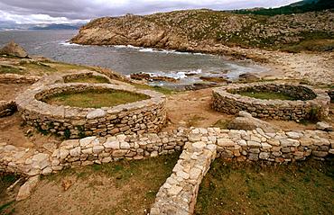 Castro de Barona, celtic ruins, La Coruna-province, Galicia, Spain