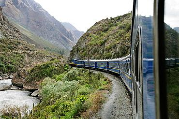 Train to Machu Picchu, Los Andes, Peru