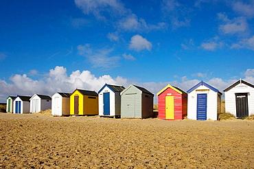 Beach Huts, Southwold, Suffolk, UK.