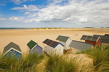 Beach Huts on Wells Beach Norfolk UK