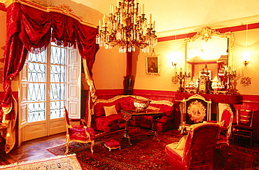 Salotto Rosso (Red sitting-room) of Villa St, Agata, Piacenza, Italy