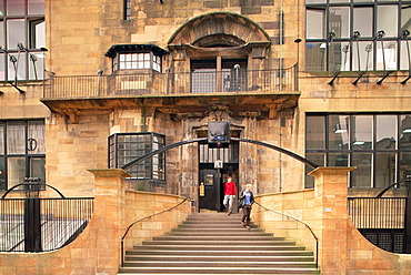 Glasgow School of Art, by Charles Rennie Mackintosh, Glasgow, Scotland