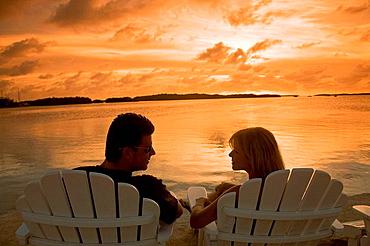 Islamorada, Florida Keys, The Lorelei in Islamorada features a Cabana Bar on Florida Bay for nightly sunset celebrations with live entertainment, USA