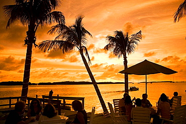 Islamorada, Florida Keys, The Lorelei in Islamorada features a Cabana Bar on Florida Bay for nightly sunset celebrations with live entertainment.