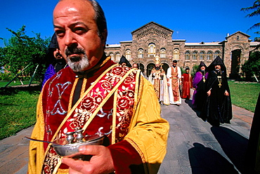 Sunday morning mass at cathedral, Etchmiadzin, Armenia