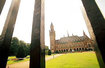 Vredespaleis (Peace Palace 1909-1913) houses United Nations International Court of Justice, The Hague, Holland