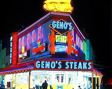Genos steaks, South 9th Street, Philadelphia, Pennsylvania, USA