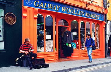 Street musician, Galway, Connemara, Ireland