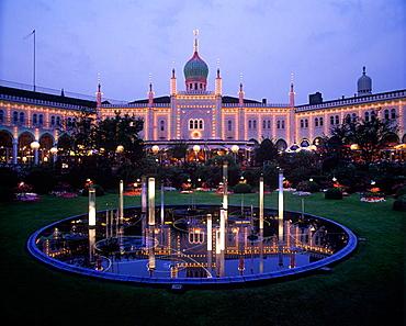 Pavillion, Tivoli gardens, Copenhagen, Denmark.
