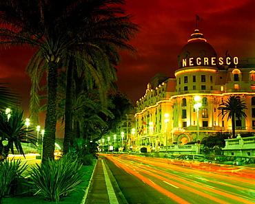 Negresco hotel, Promenade des anglais, Nice, Coted'azur, Riviera, France.