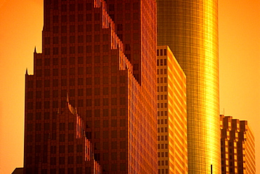 Architecture: tall office buildings, Houston, Texas, USA.