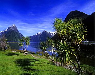 Scenic mitre peak, Milford sound, Fiordland, New zealand.