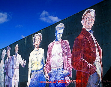 legends of hollywood mural hollywood los angeles california usa