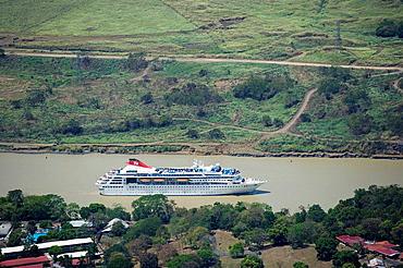 CRUISE SHIP CULEBRA GALLIARD CUT PANAMA CANAL REPUBLIC OF PANAMA