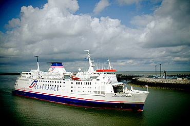 Ferry Dover-Calais at habour, France