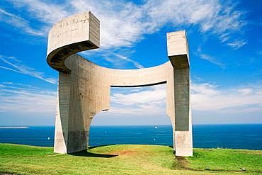 'Elogio del Horizonte', scuplture by Eduardo Chillida, Cerro de Santa Catalina, Gijon, Spain.