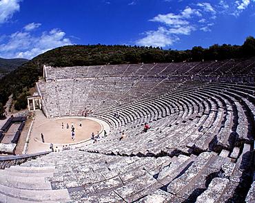 Ancient theater, Epidauros, Argolis, Peloponnese, Greece