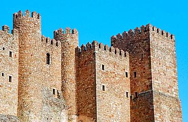 Castle (now a state-run hotel), old Arab alcazaba, Siguenza, Guadalajara province, Spain