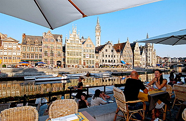 Graslei, Ghent, Flanders, Belgium