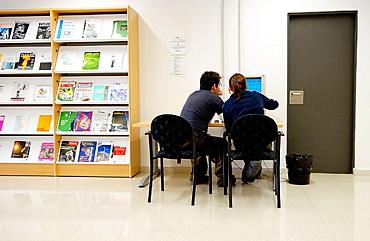 Library, Universidad Politecnica, Universidad del Pais Vasco (UPV/EHU), Gipuzkoa Campus, Donostia-San Sebastian, Euskadi.