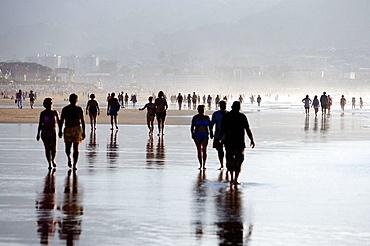 People on beach, Hendaye, Aquitaine, France