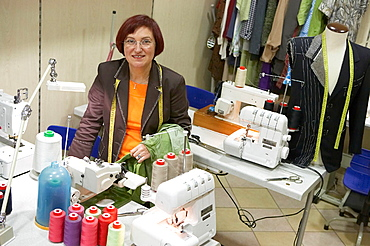 Dressmaking workshop, clothes arrangements, Retail, Elgoibar, Gipuzkoa, Euskadi, Spain.