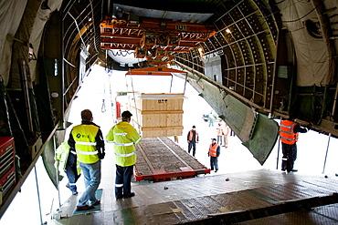 Antonov cargo aircraft at Foronda Airport, Alava, Euskadi, Spain