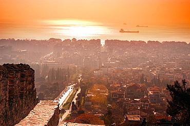 City view from Trigonion Tower, Thessaloniki, Greece
