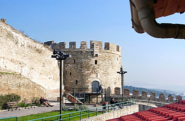 Trigonion Tower at Ano Poli (upper city), Thessaloniki, Greece