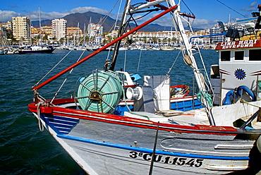 Estepona harbour, Malaga province, Andalucia, Spain.