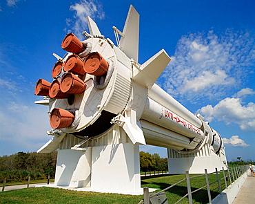Saturn 1B rocket, Rocket Garden, Kennedy Space Center, Florida, USA.