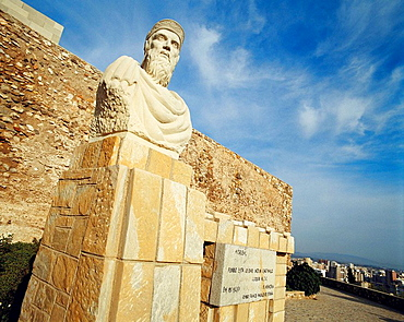 Monument to Hasdrubal, Carthaginian leader and founder of Carthago Nova (3rd century BC), Cartagena, Murcia, Spain