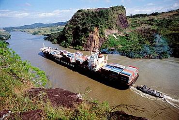 The Gaillard Cut (formerly Culebra Cut), Panama Canal, Panama