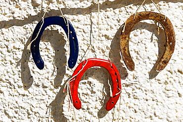 Bubion La Alpujarra Granada Province Spain Painted horseshoes