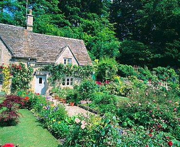 Cottages at Bibury, Gloucestershire, England