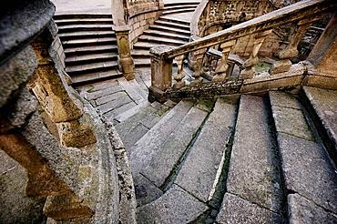 Stairs to the former benedictine monastery of San Martin Pinario, Santiago de Compostela, La Coruna province, Galicia, Spain, 2008